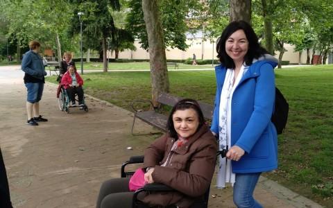 En el parque de La Felguera