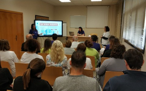 Durante la presentación al personal de la campaña